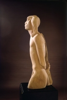 Itzhak Danziger, Israeli, born Germany, 1916-1977 Nimrod, 1939 Nubian sandstone, 95X33X33cm Gift of Dr. David H. Orgler, Zurich and Jerusalem 600.81 Collection The Israel Museum, Jerusalem